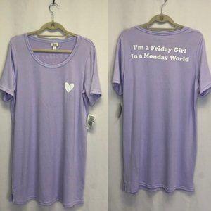 Jenni pajama nightgown Friday girl Monday world